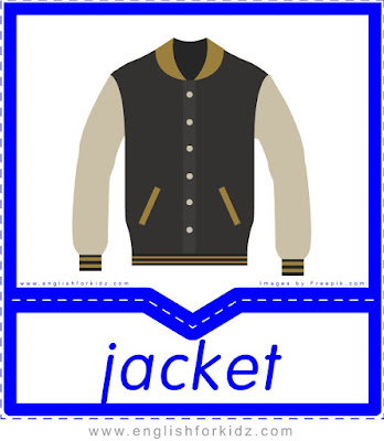 Jacket - English clothes and accessories flashcards for ESL students