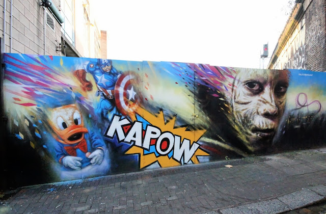"""""""Kapow"""" New Street Art Mural By Dale Grimshaw on the streets of London, UK. 3"""