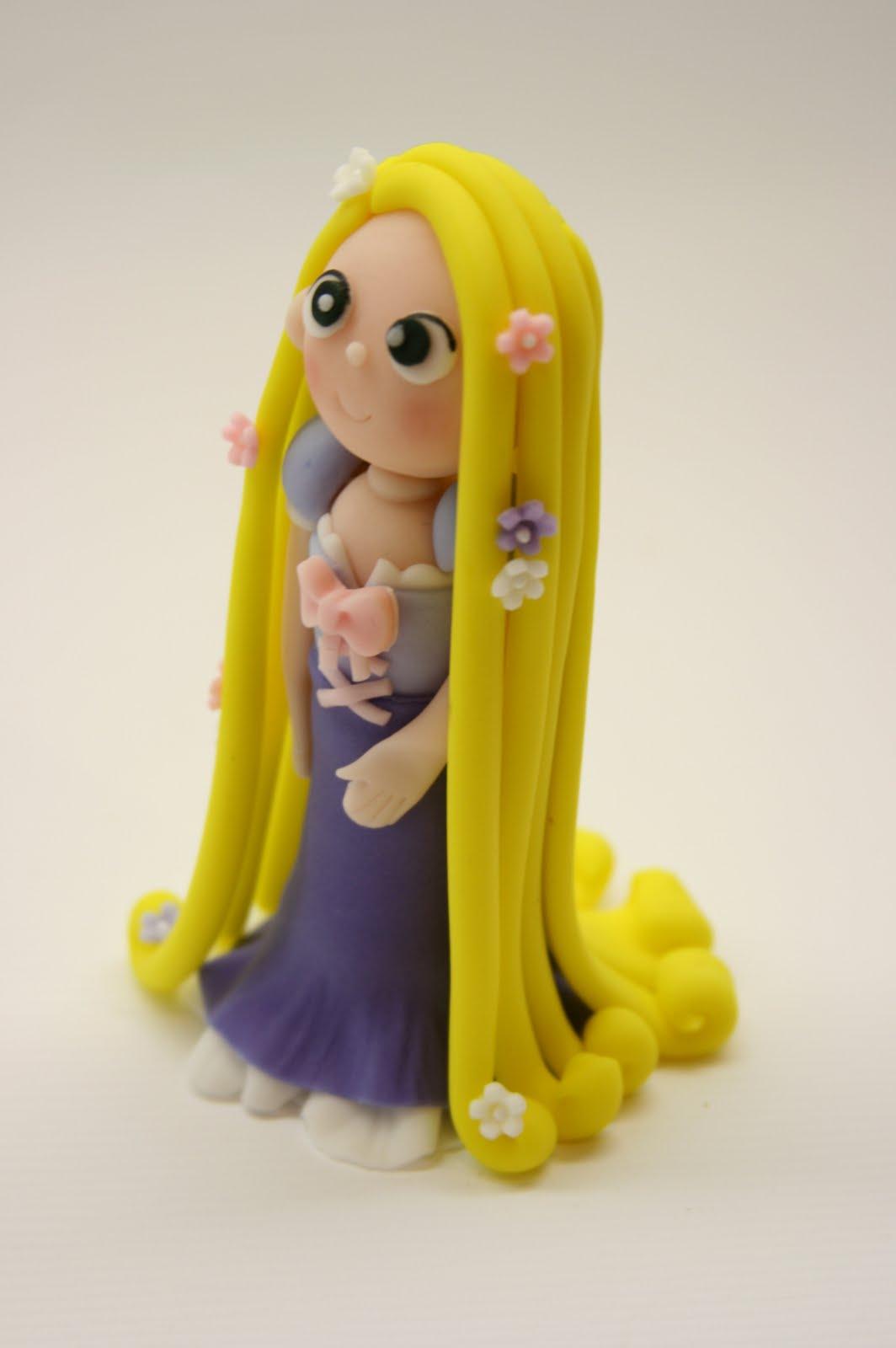 Beautiful Kitchen Princess Rapunzel Cake Topper