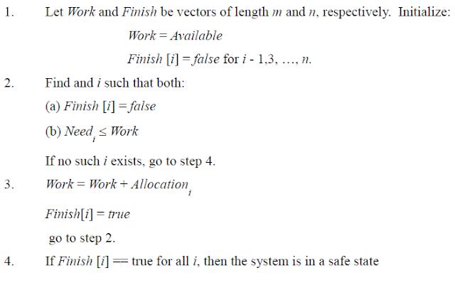 Safety Algorithm for Banker's algorithm