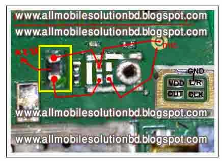 Nokia 302 mic problem solution with jumper using two pin mic