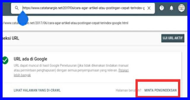 Cara submit artikel ke google webmaster.