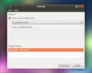 Win USB - phần mềm tạo USB cài windows trên Ubuntu