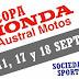 HORARIOS COPA HONDA AUSTRAL MOTOS 2016 - SÁBADO 17 Y DOMINGO 18