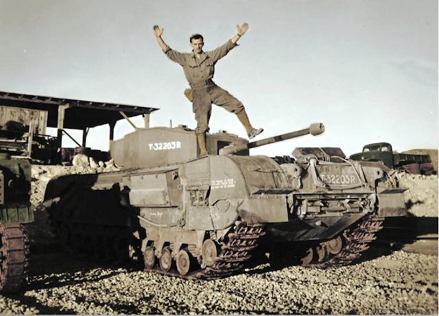 Churchill tank color photos of World War II worldwartwo.filminspector.com