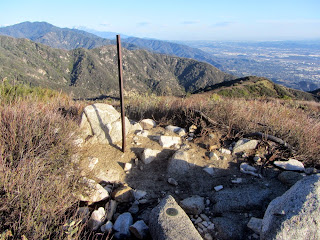 View west from Hastings Peak (4000'+) toward Monrovia Peak (left), Angeles National Forest