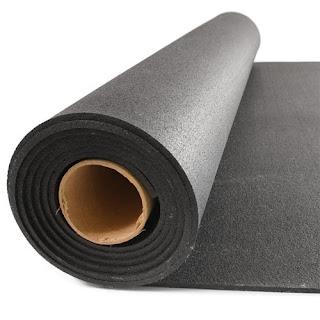 Greatmats Rubber Flooring Roll Black