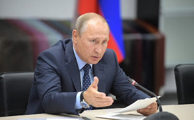 Vladimir Putin at a meeting on developing light industry.