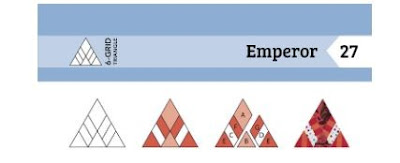 emporer triangle quilt block drawing and pieces