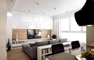 sala con mueble de tv
