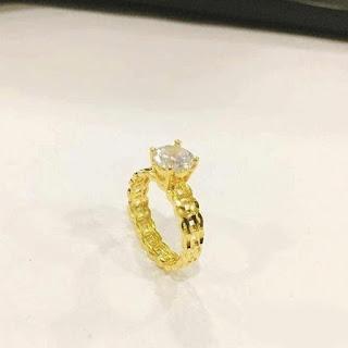 nhẫn kim tiền bằng vàng trắng