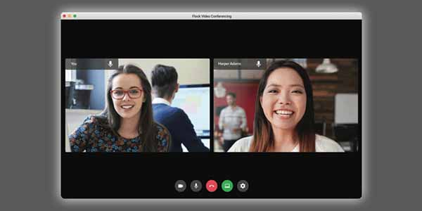 Video Conference Flockmail Rumah Web