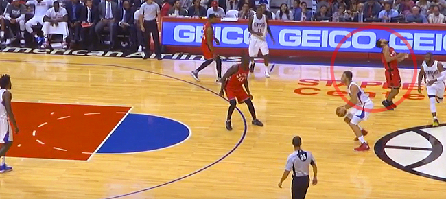 Blake Griffin Throws Shoe at Cory Joseph (VIDEO)