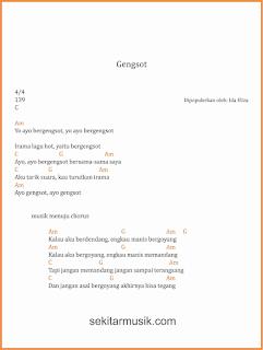 chord gengsot lagu dangdut ida eliza