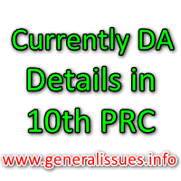 Currently DA details in 10th PRC