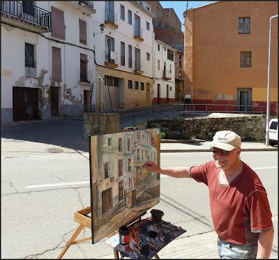 ARTÉS-PINTURA-PAISATGES-CARRER-SANT VICTOR DEL POU-POBLES-BAGES-BARCELONA-CATALUNYA-FOTOS-ARTISTA-PINTOR-ERNEST DESCALS-