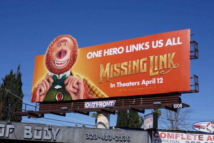 Missing Link extension cut-out billboard