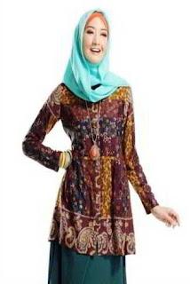 Dress Batik Muslim Wanita Gemuk