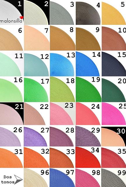 Diferentes colores disponibles para el bolso
