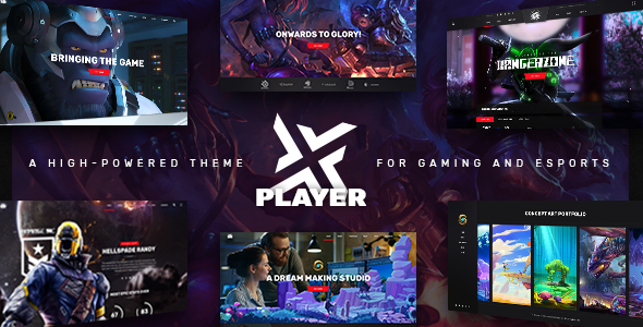 Playerx V1.5 – A High-powered Theme For Gaming And Esports