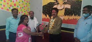 जिला शिक्षक संघ अध्यक्ष नियुक्ति पर सम्मान समारोह आयोजित