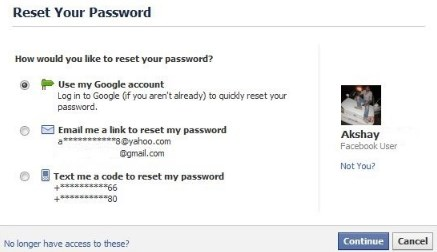 i cant login my facebook account