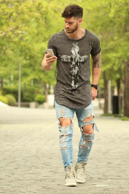 calças jeans rasgada masculina (2)
