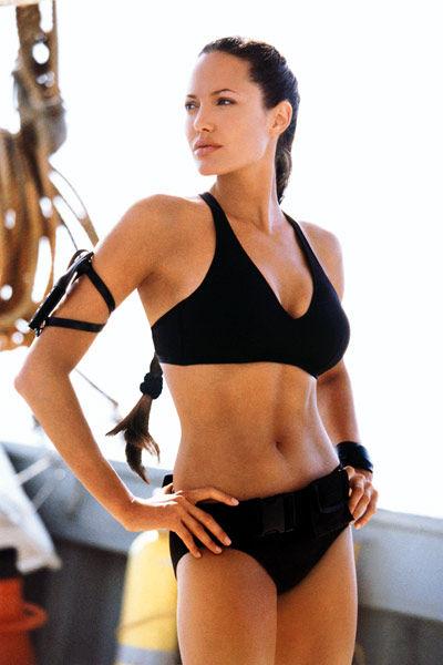 Angelina Jolie in a black bikini in Lara Croft Tomb Raider: The Cradle of Life movieloversreviews.filminspector.com