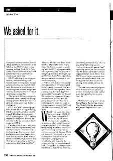 Scanned article about the failure of OS/2