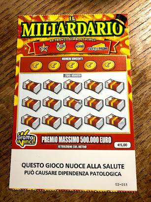 イタリアの宝くじ表面