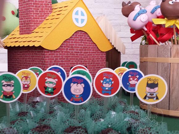 3 porquinhos, heróis, três porquinhos, festa, infantil, arte digital, kit digital