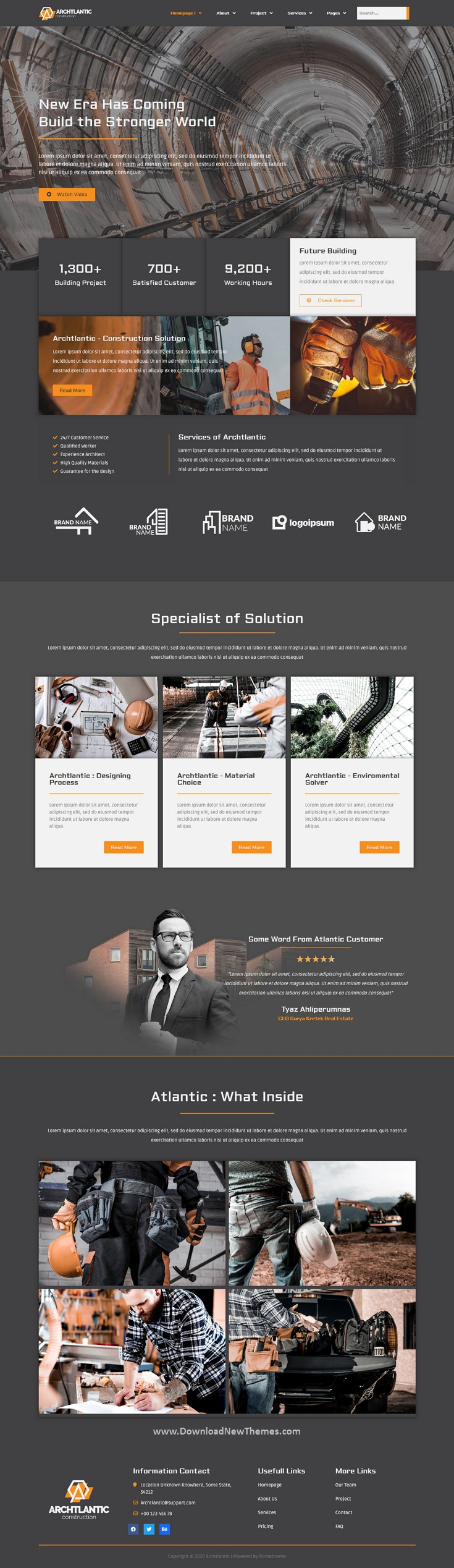 Construction Agency Elementor Template Kit