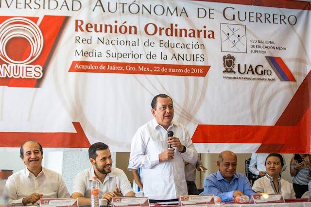 La #UAGro fue sede de la Primera Reunión Ordinaria de la Red Nacional de Educación Media Superior de la #ANUIES