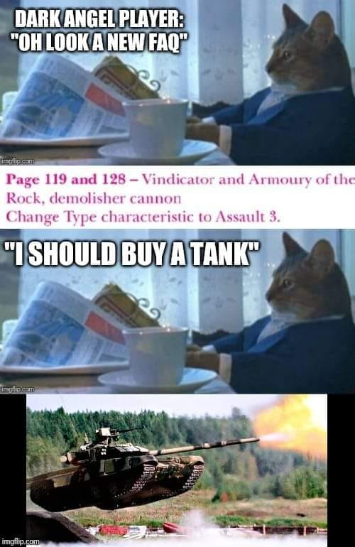 dark angels vindicator meme