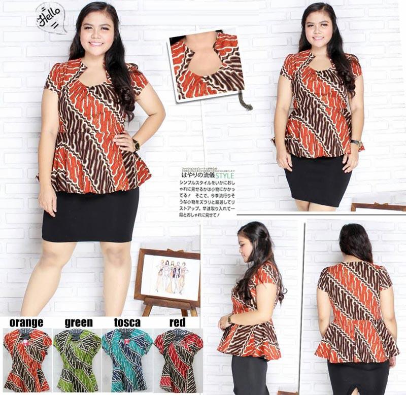 Jual Baju Batik Serena Batik Blouse (Big Size) - 13132