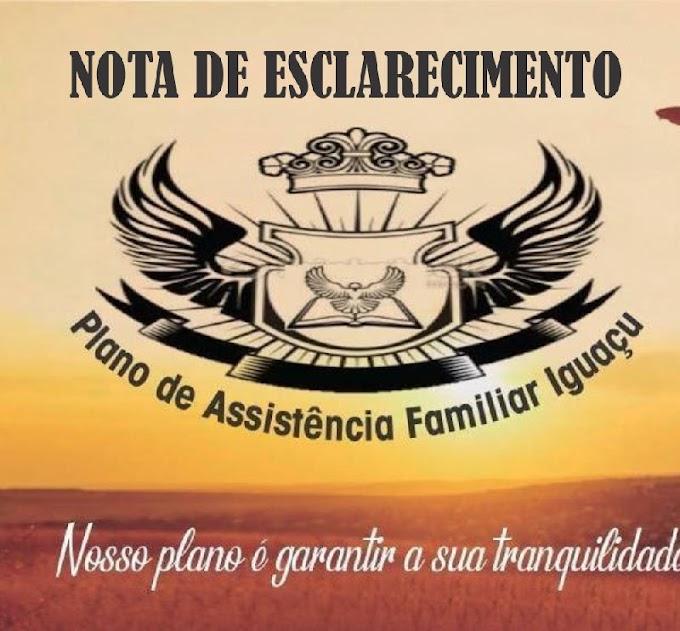 Nota de esclarecimento Funerária Iguaçu [A pedido]