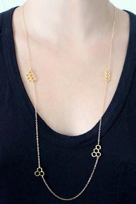 Honeycomb Wrap Necklace