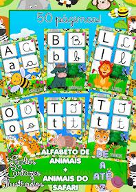 Alfabeto De Animais E Animais Do Safari Colorido Em Pdf Para