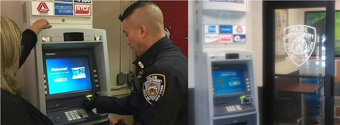 El NYPD instala cajeros automáticos en cuarteles para evitar robo de identidad y tarjetas