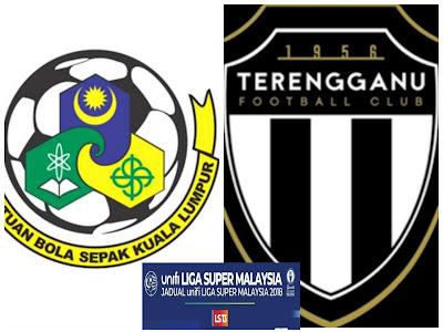 Live Streaming Kuala Lumpur vs Terengganu Liga Super 2.6.2018