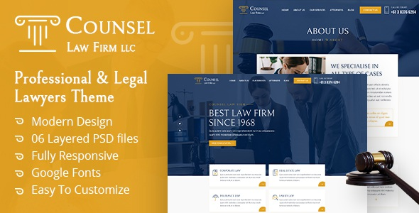 Best Law Firm UI Template
