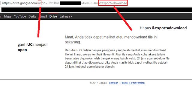 Cara Download Di Google Drive Kuota Terlampaui