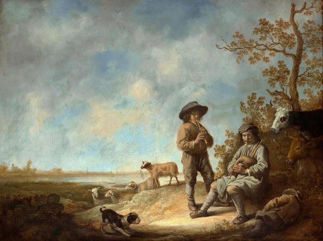 Альберт Кёйп - Музицирующие пастухи. ок1644