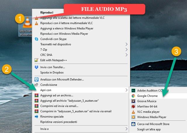 visualizzare i sottotitoli di file audio video