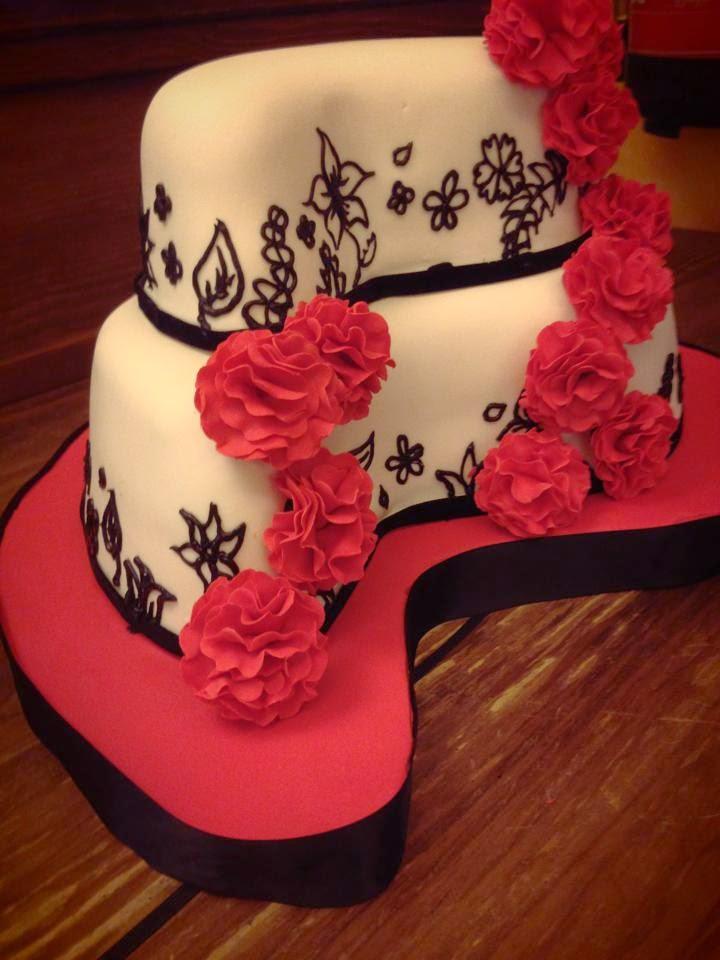 tarta de boda flamenca en forma de gota loleta linares blog mi boda gratis