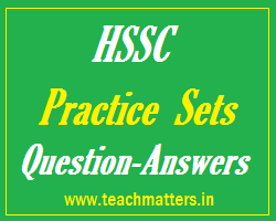 image :HSSC Practice Sets/Papers 2021 Question Answers @ TeachMatters.in