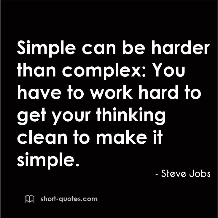 "Steve Jobs Quotes On Hard Work: ""Simple Can Be Harder Than Complex: You Have To Work Hard"