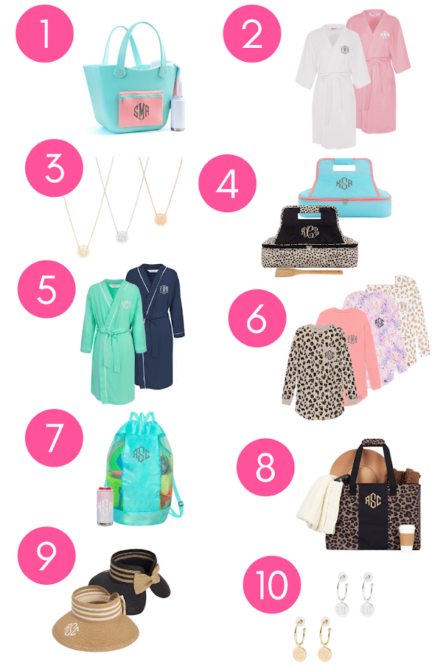 Numbered Mother's Day Gift Guide from robes to bags