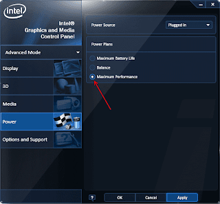 Intel HD Graphics Power Settings