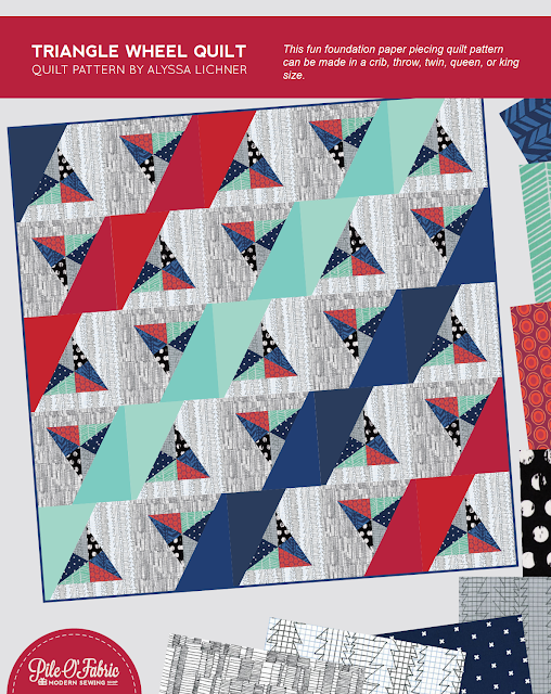 Triangle Wheel Quilt by Alyssa Lichner @Pile O'Fabric